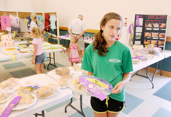 Jackie Lieurance talks about her entry in the food category during the 4-H Fair on Thursday.