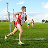 Frankton's Dylan Doan rounds a turn during the Madison County Cross Country meet at Pendleton Heights on Tuesday. Frankton runners took five of the top six spots.