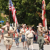 Chesterfield Boy Scout Troop 230 leads the Chesterfield Fourth of July Parade.