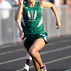 Don Knight | The Herald Bulletin<br /> Pendleton Heights' Kiawna Cottrell wins the girls 100 meter dash.