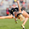 Don Knight | The Herald Bulletin<br /> Lapel's Mackenzie Boles clears 4 feet 6 inches in the high jump.