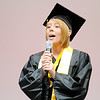"Victoria Stanley sings ""I Believe"" during the Madison-Grant graduation on Saturday. Madison-Grant's Class of 2013 included 102 students."