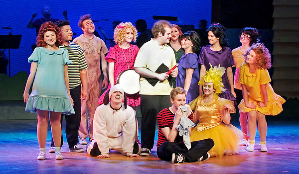 "Mark Maynard | for The Herald Bulletin<br /> The cast of ""You're a Good Man, Charlie Brown"" turns in an energetic performance of fast-paced vignettes."