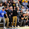 Don Knight |  The Herald Bulletin<br /> Shenandoah's student section reacts as the Raiders take the lead early in their game against Monroe Central on Tuesday. Read about the game in today's Sports section.