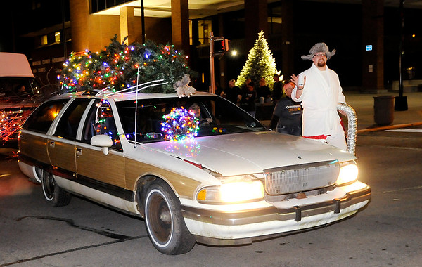 "Don Knight |  The Herald Bulletin<br /> Community Hospital Anderson's entry for Anderson's Christmas parade was inspired by ""National Lampoon's Christmas Vacation."""