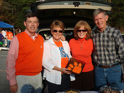 Clemson vs Florida State tailgate.  LtoR: Tommy, Robyn Shiely, Karen, and Buzz Shiely.  2009