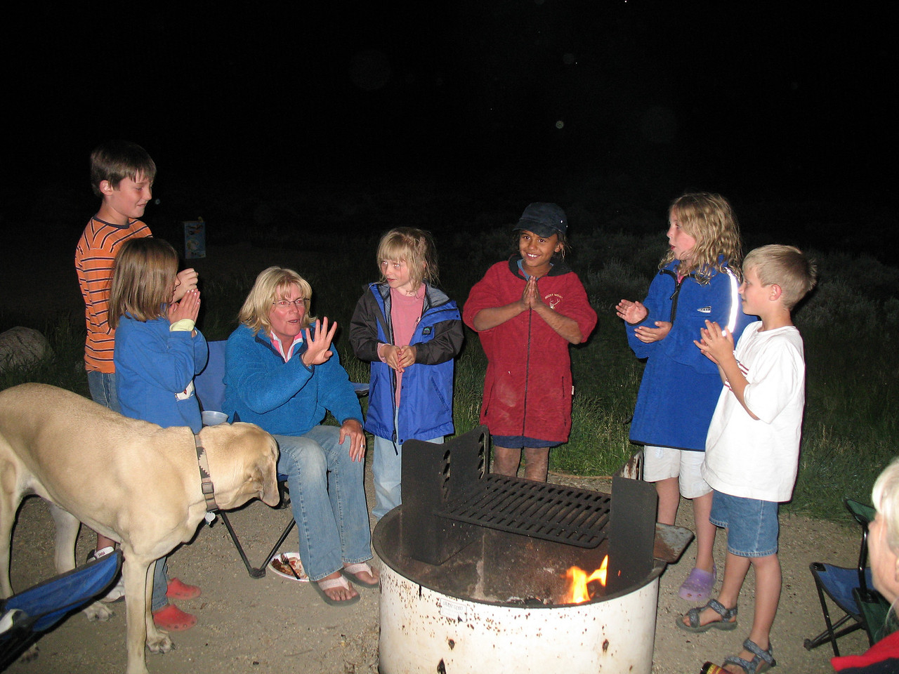 Maggy May was just one of the kids around the campfire.