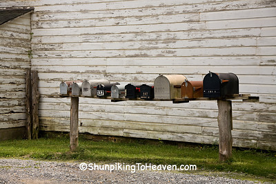 Row of Rural Mailboxes, Searcy County, Arkansas