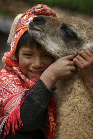 Boy & his Llama, Cusco, Peru
