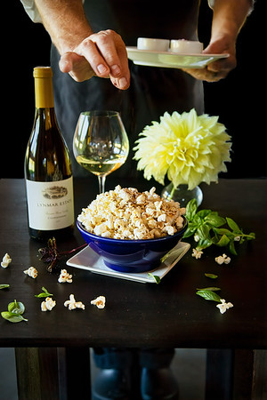 Flavored Popcorn at Lynmar Estate Winery
