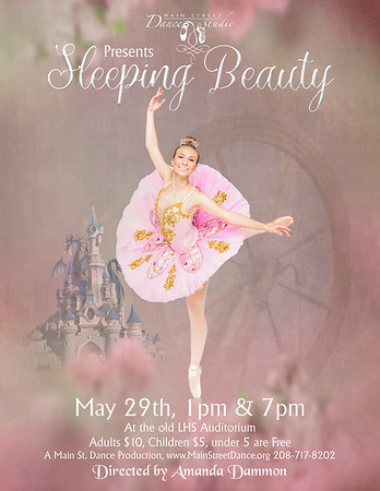 Sleeping Beauty Poster Spindle 8 5x11