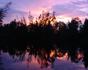 I prefer this photo in metal.  It truly makes the colors.  This was taken at a friends house; her pond/lake at sunset.