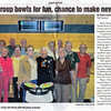 Newspaper article published in the Coastal Point on November 4, 2011 about the bowling group (page 1 of 2).