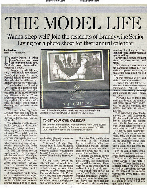 "Newspaper article in the October 17, 2013 ""The News Journal"", page 2 of 3"