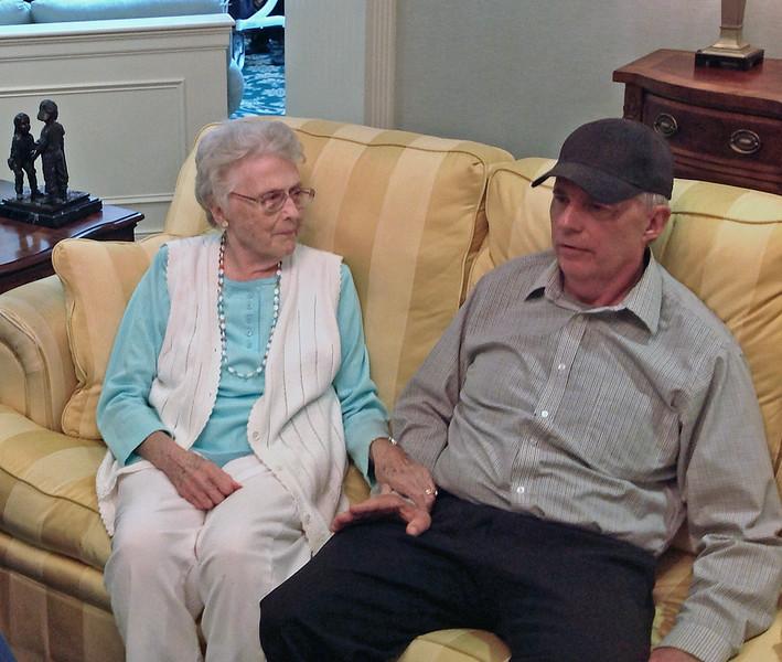 Mark Main visiting  Brandywine on June 8, 2015