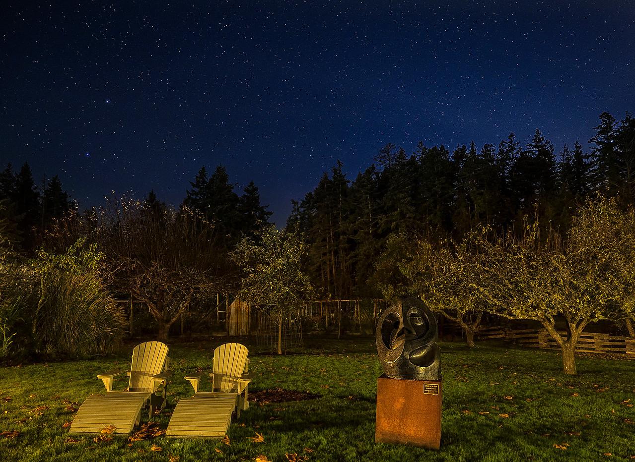 pano night stars