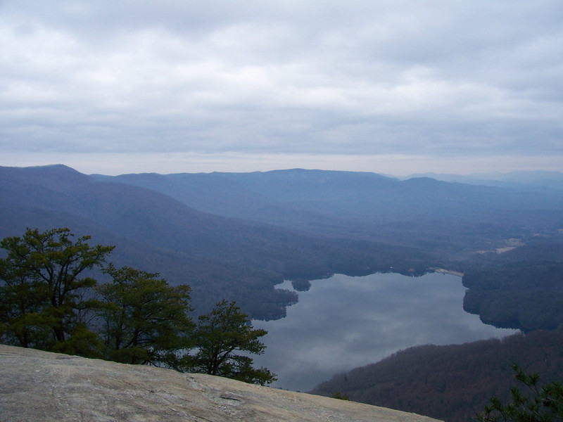 On top of Table Rock, on the other side of the lake is Caesars Head State Park, SC.  Jan 2010