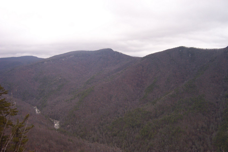 Linville Gorge, NC seen from Wise Man looking Left