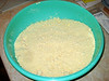 .. into the flour until the mix turns to a sandy texture. Add the cold water and ...