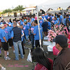 A sea of blue.... Lots of fellow Walmartians walking.<br /> Making Strides, Tempe Beach Park, 2010