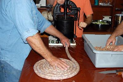 Making sausage and boudin