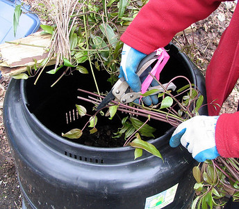 Cut up all waste into small pieces so it will compost faster.