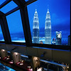 Inside the SkyBar on the 30th floor of the Traders Hotel in KL. Credit: Traders Hotel.