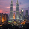 Petronas towers from Skybar on the roof of the Traders Hotel, MALAYSIA. Credit Simon Bracken.