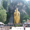 The Batu caves boasts the world's tallest statue of Murugan, a Hindu deity. The gold-painted concrete figure stands 42.7 metres high.
