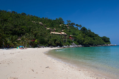 Tioman Island. We pretty much have the beach to ourselves!