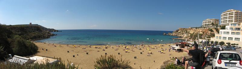 Golden Bay on Gozo Island