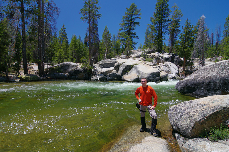 David @ Granite Creek in June of 2011--one of a few to be up here this early on a snow season like this one.