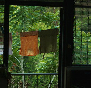 Quebradas, Costa Rica June 2013 Even our laundry has a good view.