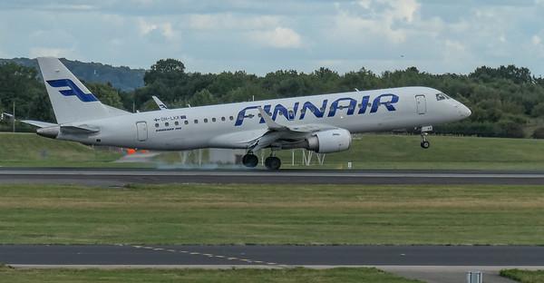 Embraer ERJ-190LR, Finnair, Helsinki to Manchester - AY1365, Manchester Airport, Nordic Regional Airlines, OH-LKR - 16/08/2018:17:04