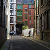 Northern Quarter (with random person peeping though fence)