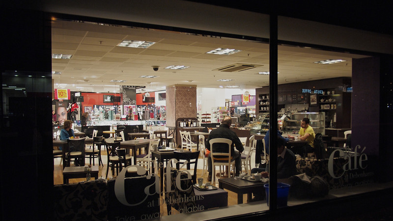 The cafe at Debenhams.