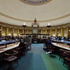 The main feature of the library is the the impressive central reading room on the first floor.