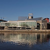 The Lowry Centre from the Manchester side of the Manchester Ship Canal.