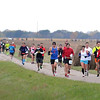 Pat Christman<br /> Marathoners run along the Red Jacket Trail during Sunday's race.