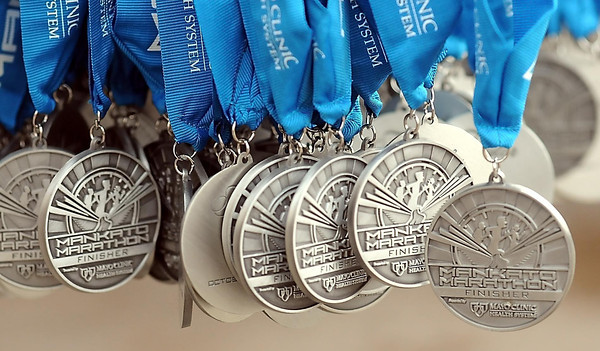 John Cross<br /> Medals were awarded to race finishers on Sunday.
