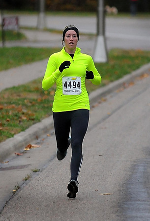 John Cross<br /> Emily Schudrowitz of North Mankato was the first women to cross the finish line of the 10K race with a time of 40:04.