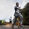 John Cross<br /> Runners participating in the 10K wind their way down Stoltzman Road on Sunday.