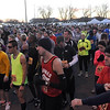 Runners get ready for the start of Sunday's 10K race.