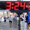 John Cross<br /> Mankato Marathoners approach the finish line.