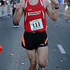 John Cross<br /> Mankato Marathon winner Paul Donnelly crosses the finish line Sunday.