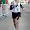 John Cross<br /> Women's Mankato Marathon winner Leslie Anderson sprints toward the finish line.