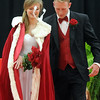 Pat Christman <br /> The crown falls off of Mankato West homecoming queen Maria Soroka's head after being crowned Friday.