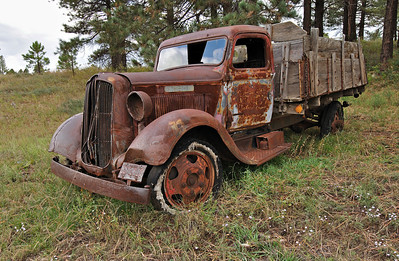 Old Dodge Truck by Old Munds Highway