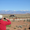 Thursday after we arrived from Albq.  The La Sal Mtns in the background.