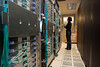 P7.1 RWC: Picture of a person looking at a large data center or group of racks of servers or computer equipment<br /> Choice 10 of 10<br /> <br /> Centro de Investigación de IBM en California Crédito: OTROS Fotógrafo: Bloomberg (Newscom TagID: etcpic034478) [Photo via Newscom]